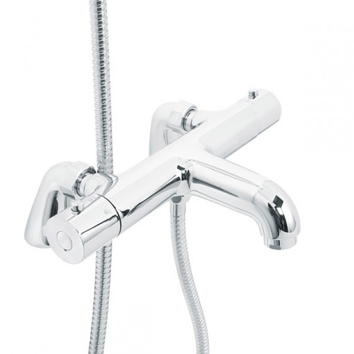 Rina Slide Shower Rail Kit with Focus Deck Valve & Bath Mixer