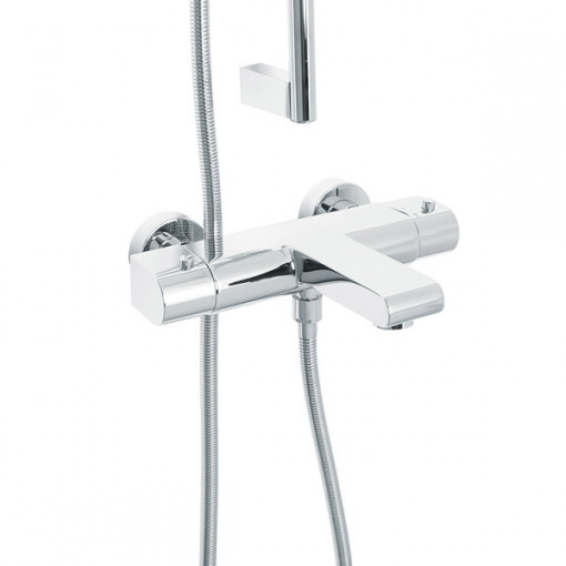 Cima Slide Shower Rail Kit with Vitalia Wall Valve & Bath Mixer