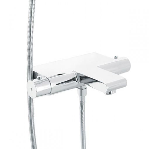 Chenai Premium Slide Shower Rail Kit with Montroc Thermostatic Wall Valve & Bath Mixer