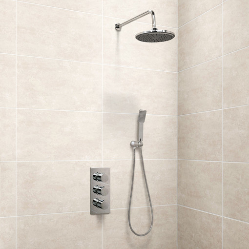 EcoS9 Triple Control Shower Valve with Diverter, Handset and Head