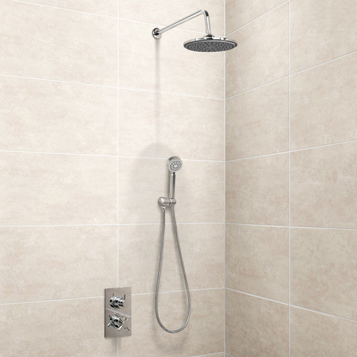 EcoStyle Concealed Dual Control Shower Valve with Diverter, Handset and Head