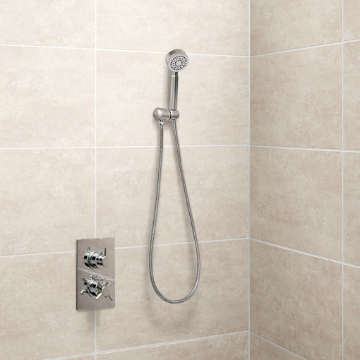 EcoStyle Concealed Dual Control Shower Valve with Diverter with Overflow and Handset
