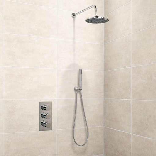 EcoS9 Triple Valve with Diverter, Outlet, Hose, Handset, Head and Overflow