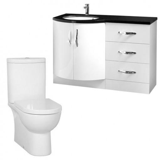Kirkwood™ Bow Front Left Hand Drawer Unit with Rovigo Toilet