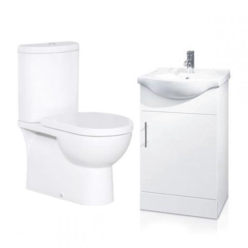 Rovigo Toilet & 45 White Vanity Basin Unit
