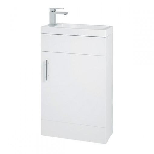 Aspen™ Compact 50 White Floor Mounted Vanity Unit