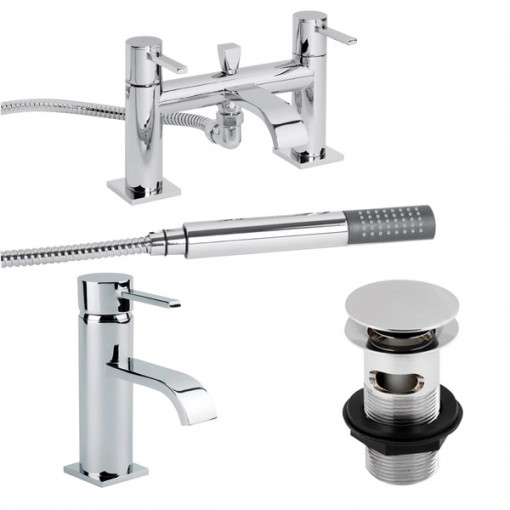 Disc Tap Pack with Basin Waste