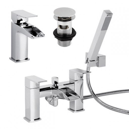 Tabor™ Waterfall Tap Pack with Basin Waste