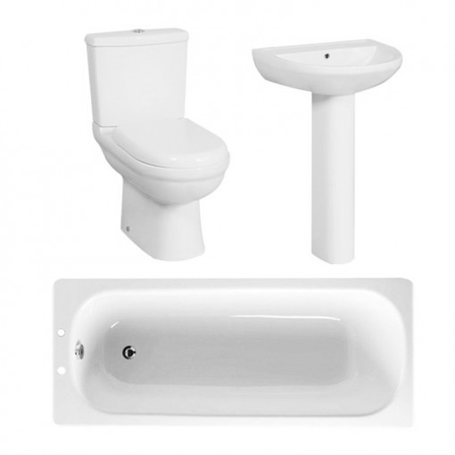 1700 Steel Bath Micro Bathroom Suite