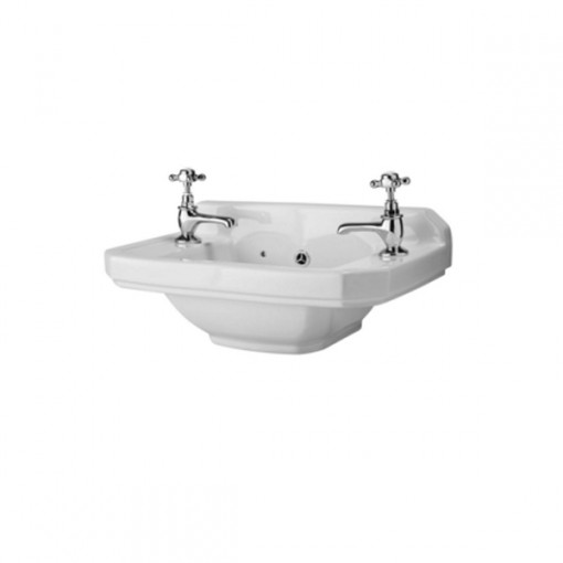Park Royal™ 500 Cloakroom 2 Tap Hole Basin with Washstand