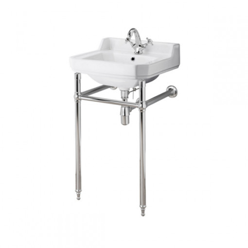 Park Royal 500 Cloakroom 1 Tap Hole Basin with Washstand