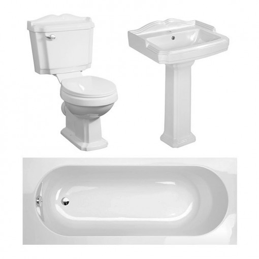 1500 Traditional Victoriana 1TH Bath Suite Deal