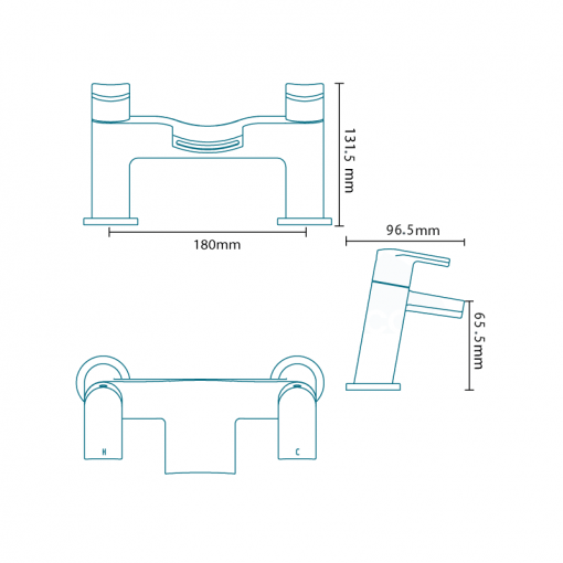 Voss Waterfall Basin Mixer and Bath Filler Tap Pack
