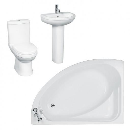 Vienna Impressions Right Hand Corner Bath Suite