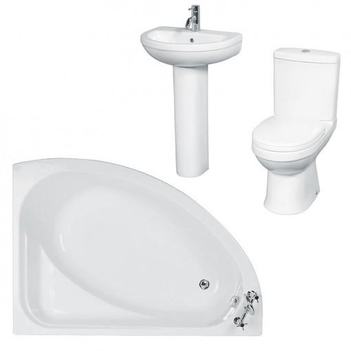Vienna Impressions Left Hand Corner Bath Suite