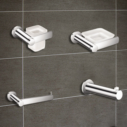 Riverno 4 Piece Premium Bathroom Accessory Pack