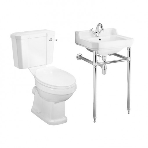 Park Royal™ Traditional Toilet & 500 Basin Suite inc Washstand