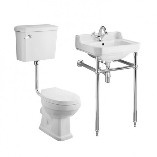 Park Royal™ Low Level Traditional Toilet & 560 Basin Suite inc Washstand