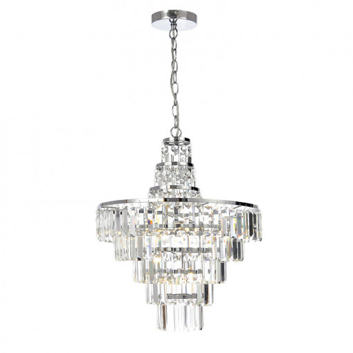 Layla chisel cut crystal chandelier - Bathroom chandeliers crystal ...