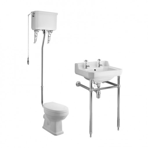 Park Royal™ High Level Traditional Toilet & 560 Basin Suite inc Washstand