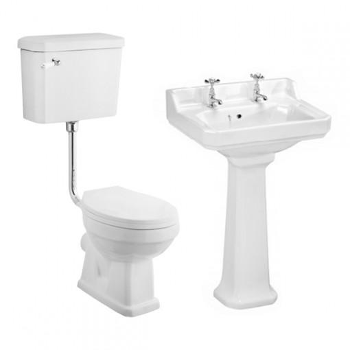 Park Royal™ Low Level Traditional Toilet & 595 Basin Suite