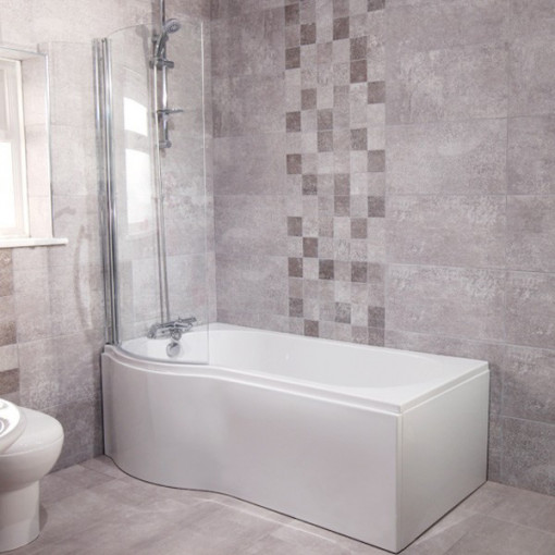 P Shape Cova Alfa Bathroom Suite