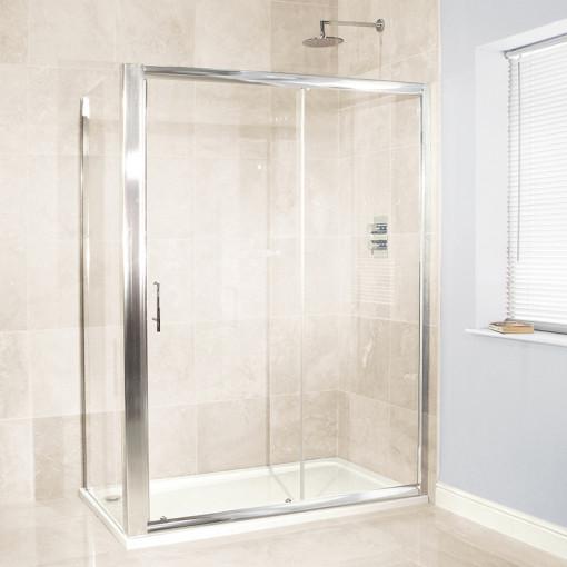 Aquafloe™ 6mm 1400 x 760 Sliding Door Shower Enclosure