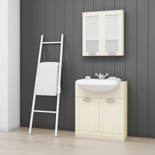 Nottingham Ivory Semi Inset 1 Tap Hole Vanity Unit