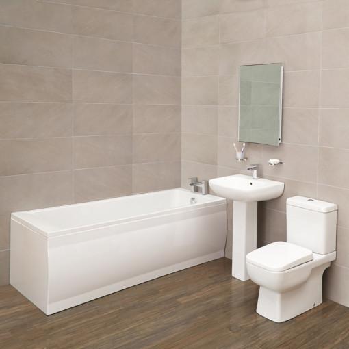Carona Quadra 1700 x 700 Bathroom Suite