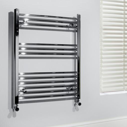 Beta Heat Electric 760 x 600mm Straight Chrome Heated Towel Rail