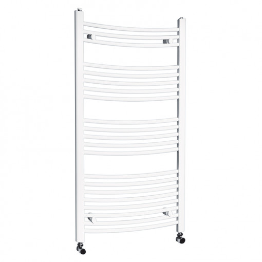 Beta Heat Electric 1150 x 600mm Curved White Heated Towel Rail
