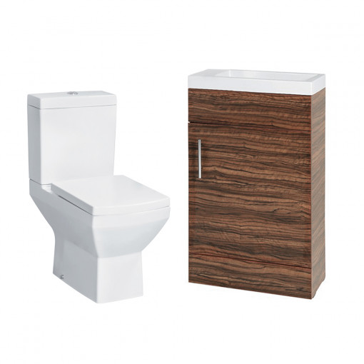 Aspen 50 Compact Walnut with Tabor Toilet & Seat