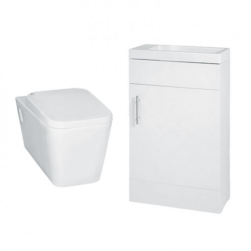 Aspen 50 Compact White with Bali Wall Mounted Toilet