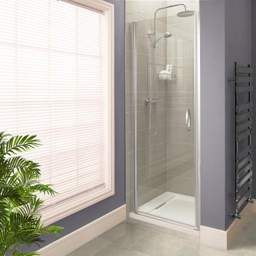 Aquafloe™ Iris 8mm 900 Hinged Shower Enclosure