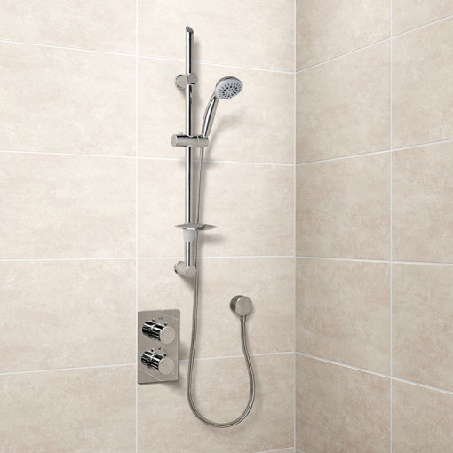 Eco Slide Shower Rail Kit with EcoS9 Dual Valve & Wall Outlet