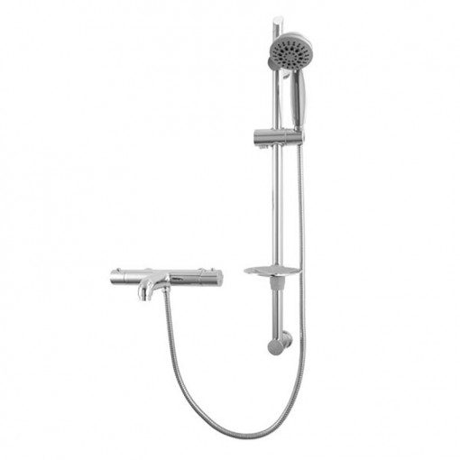 Focus Thermostatic Wall Mounted Bath Shower Mixer with Rail Kit