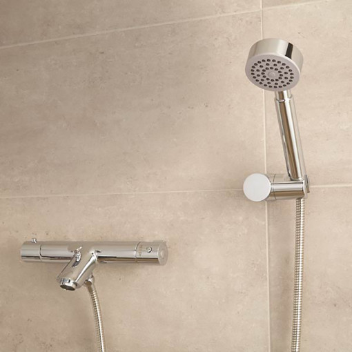 Peru Deluxe Wall Mounted Bath Shower Mixer with Rail Kit