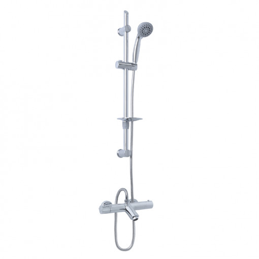 Peru Deluxe Wall Mounted Bath Shower Mixer with Eco Slide Rail Kit