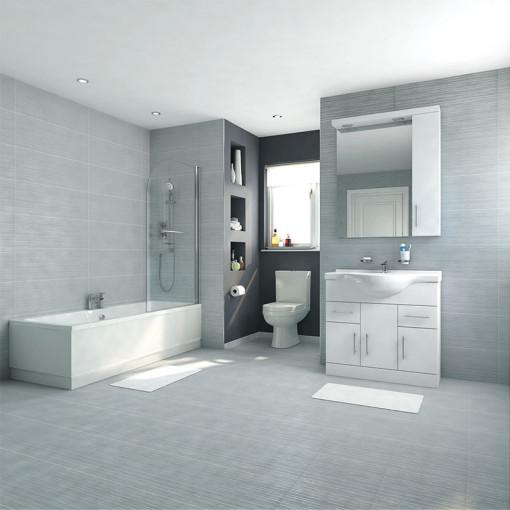 Voss Dee 85 Vanity Unit Shower Bath Bathroom Suite