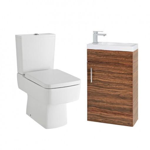 Madison Aspen 50 Walnut Cloakroom Furniture Pack