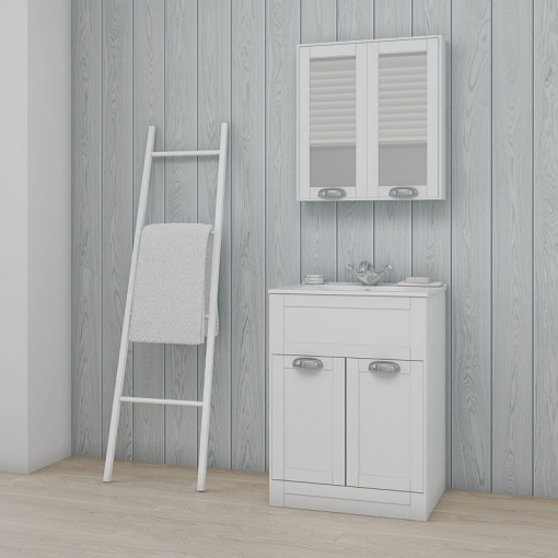 Nottingham White 600 Vanity Unit