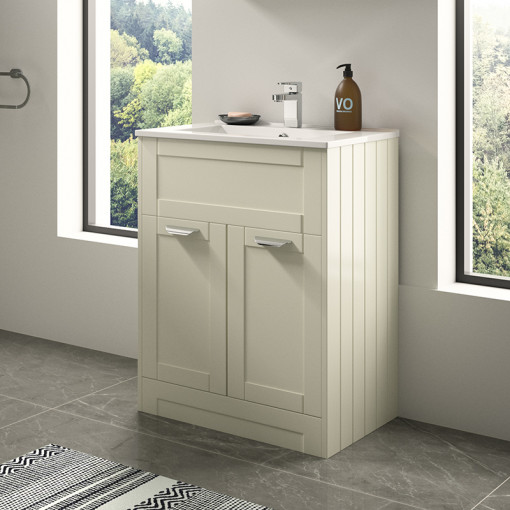 Nottingham Ivory 600 Vanity Unit