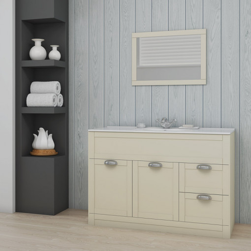Nottingham 1000 Ivory Combination Unit with Tabor Back to Wall Toilet