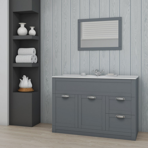 Nottingham 1000 Grey Combination Unit with Tabor Back to Wall Toilet