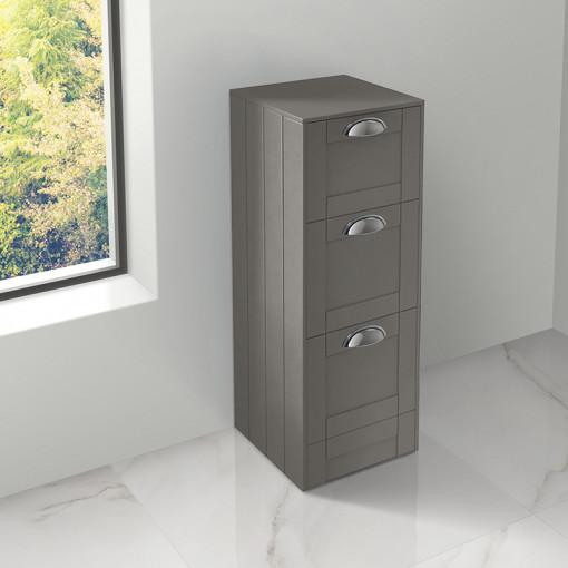 Nottingham Grey 3 Drawer Storage Unit