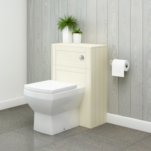 Nottingham Ivory WC Unit with Tabor Back to Wall Toilet