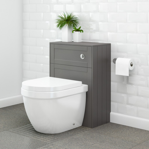 Nottingham Grey WC Unit with Aurora Back to Wall Toilet