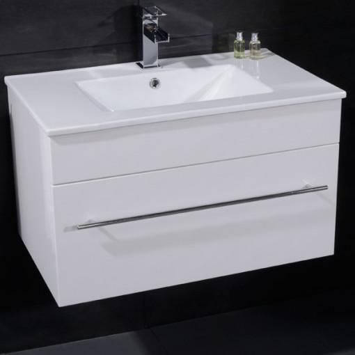 Aspen™ 75cm Wall Mounted White Vanity Unit