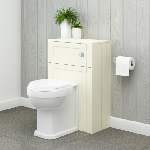 Nottingham Ivory WC Unit with Park Royal™ Back to Wall Toilet