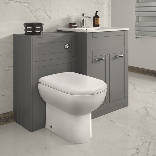 Nottingham 600 Grey Combination Unit with Back to Wall Toilet